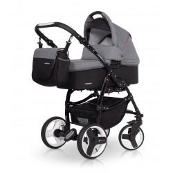 Wózek 3w1 QUERO LEN,  aluminiowa rama